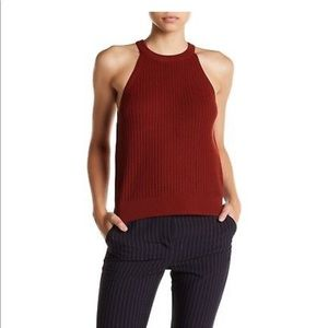 Theory Knit Tank Top in Burnt Paprika Size L.